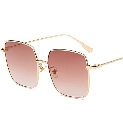 à soleil art NIFG en Lunettes monture carrées métal lunettes B grand soleil de de rétro qBzYOwzT