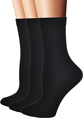 Flora&Fred Women's Flat Knit Cotton Crew Socks, Solid Color, Size 9-11 / Shoe Size 5-9