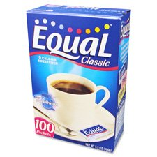 (Equal MRINUT810931 Sugar Substitute Artificial Sweetener, 100 Packets/Box)