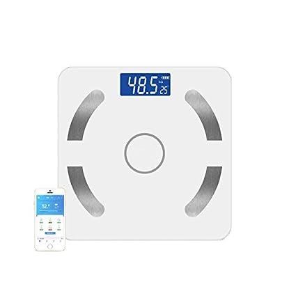 Báscula de grasa corporal,Yinsili Báscula de Baño Digital Bluetooth con App,Balanza de