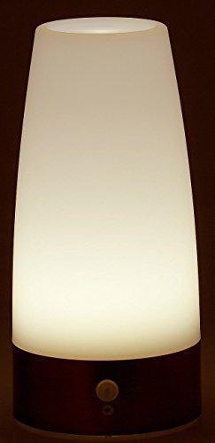 lunartec nachttischlampe batterie led tischlampe mit pir bewegungs sensor ebay. Black Bedroom Furniture Sets. Home Design Ideas