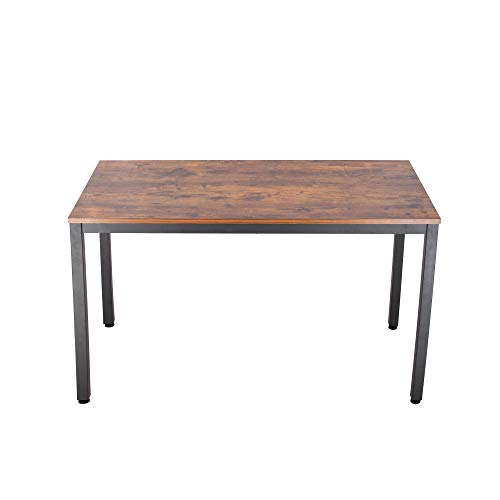 """(IRONCK Computer Desk, 47"""" Office Desk with 0.7"""" Thicker Tabletop 1.6"""" Sturdy Metal Frame, Simple Study Table, Industrial Style Desk for Home Office, Matt Brown)"""