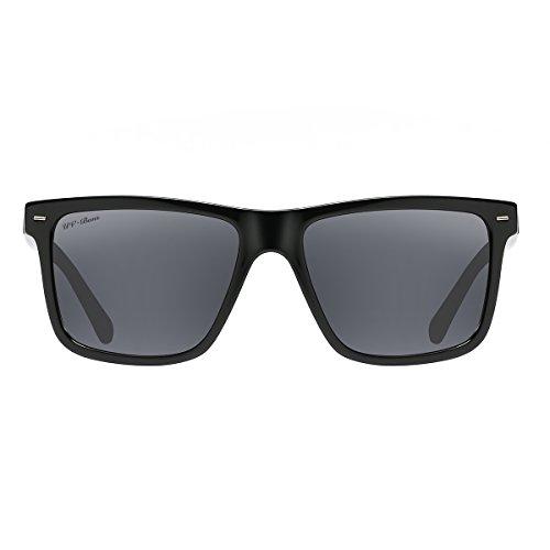 UV-BANS Polarized Sunglasses for Men Women,Retro Wayfarer Style,TAC UV400 Protection