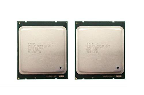Intel Matching Pair Xeon E5-2670 Eight Cores Processors 2.60GHz 20MB Smart Cache 8.00 GT/S QPI TDP 115W SR0KX BX80621E52670 (Renewed)