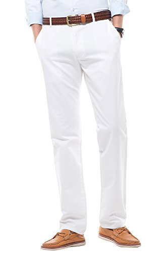 INFLATION Men's Casual Pants Straight-Fit Dress Pant Chino Slacks MH103 Off-White Tag 29 (Any Day Chino Pants)