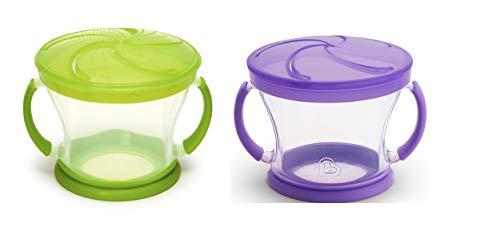 Munchkin 2 Piece Snack Catcher, Green/Purple]()