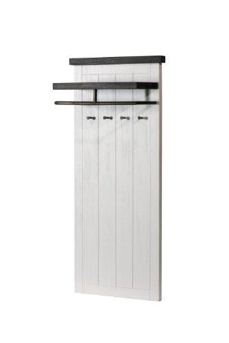 Loft perchero con estante superior, barras y 4 ganchos de ...