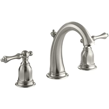 KOHLER K-13491-4-BN Kelston Widespread Bathroom Sink Faucet, Vibrant ...