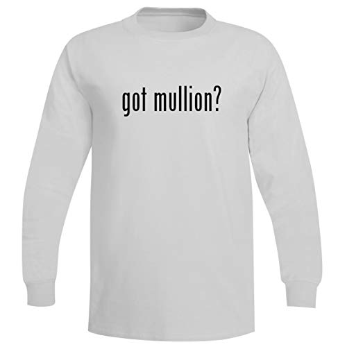The Town Butler got Mullion? - A Soft & Comfortable Men's Long Sleeve T-Shirt, White, X-Large