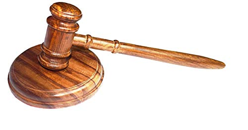 Wooden Gavel with 6 inch sound block made of Pure sheesham wood ()