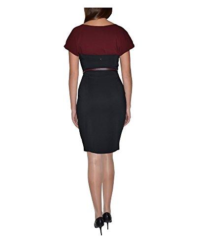 liu jo Damen Schlauchkleid Kleid nero - bordeaux 42