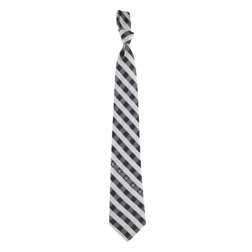 Eagles Wings Oakland Raiders NFL Check Poly Necktie