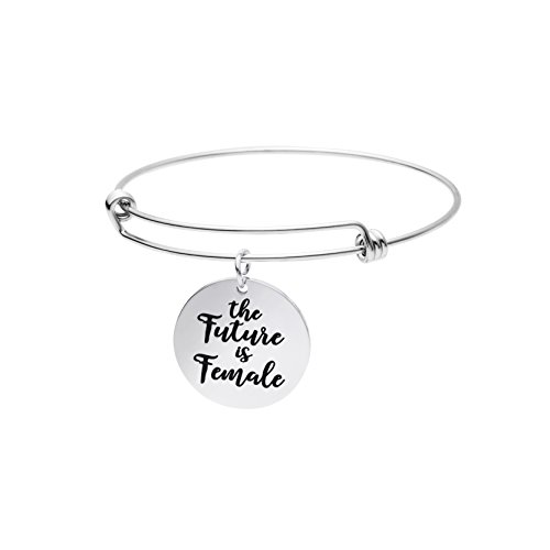 Feminist Jewelry for Women Expandable Bracelet Inspirational Saying Quotes The Future is Female - Future Jewelry