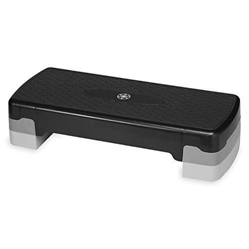 Gaiam Essentials Exercise Step Platform Aerobic Stepper Bench | Fitness Equipment Workout Deck with Adjustable Riser Height & Non Slip Textured Surface