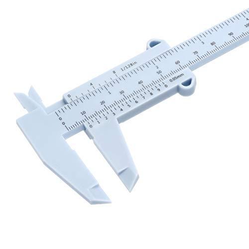 Vernier Caliper 150mm 6-inch Plastic Metric Measurement Tool for Precision Measurements Exterior Interior Depth Random Color 1 Set