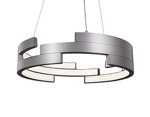 Kuzco Lighting Anello Modern LED Architectural Pendant in Brushed Nickel Finish
