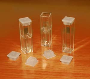 Cuvettes Caps for Glass, Quartz and Disposable Cuvettes. Size: 10x10mm, 100/pk, CUVETTES Sold Separately by Azzota