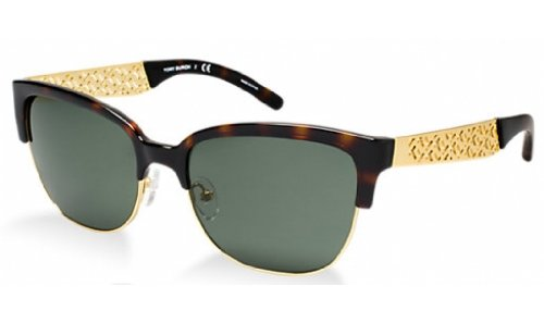 Tory Burch TY6032 Sunglasses 301671-56 - Tortoise Gold Frame, - Gold Burch Tory