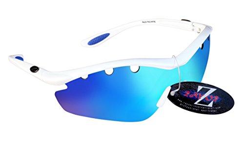 RayZor Lunettes Lunettes de soleil pour Sport Randonnée, avec un objectif 1miroir bleu aérés en iridium anti-reflets