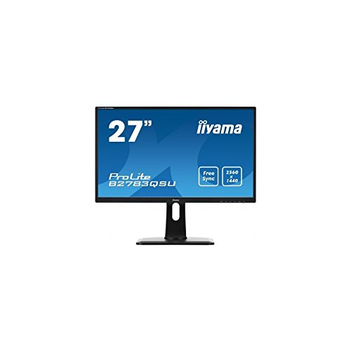 iiyama ProLite B2783QSU-B1 27 Black Compatibilité 3D Wide Quad HD LED display