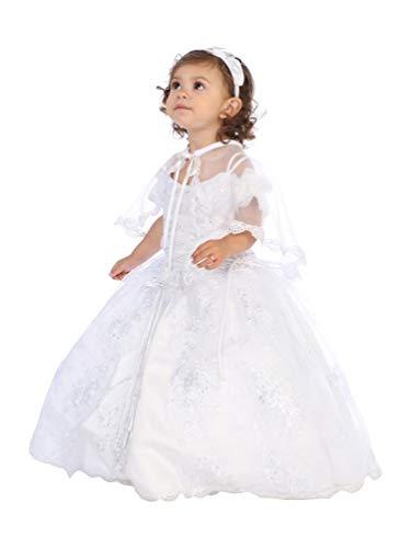 Angels Garment Little Girls White Sequin Embellished Baptism Dress 2T/3T from Angels Garment