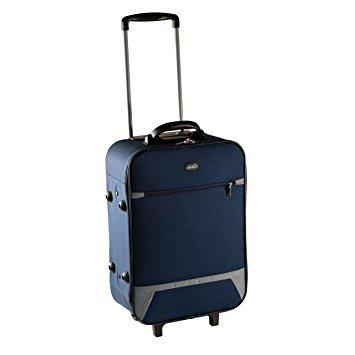 Alfalite Volcano Teflon 62 cms Blue Hardsided Suitcase (STVOL65BLU)