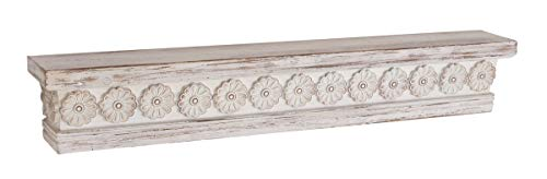 (Deco 79 44480 Rustic Wood and Resin Floating Shelf 5