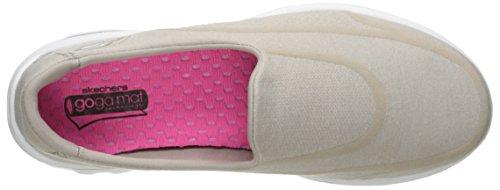 Skechers Performance Damen Go Walk 2 Super Socke 2 Slip-On Wanderschuh Taupe 2