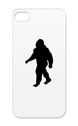 Bigfoot Silhouette TPU Protective Case For Iphone 5 Dirtproof Silhouette Miscellaneous Shadow Funny Sasquatch Bigfoot Outline Black