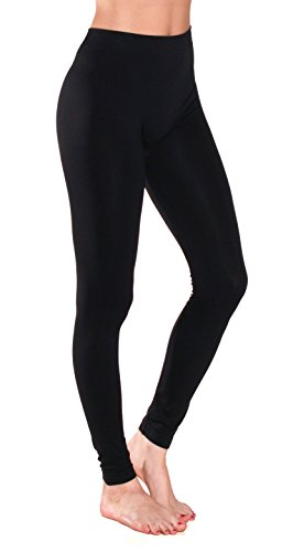 Sofra Women's Full Ankle Length Seamless Leggings (Ankle Length, Black)