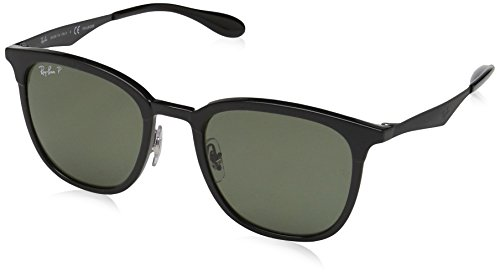 Ray-Ban Injected Unisex Polarized Square Sunglasses, Black/Matte Black, 51 - Polarized Ray Sunglasses Ban Highstreet