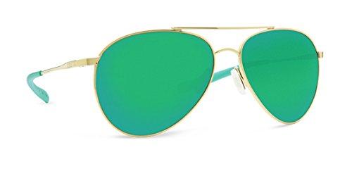 Costa Del Mar 580p PIPER Shiny Gold Sunglasses, Green Mirror - Del Mar Coasta
