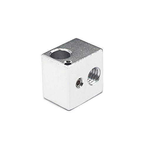 Zamtac 5pcs Aluminium Heat Block for V5 J-Head MK7/MK8 Extruder 3D Printer Parts