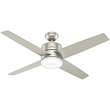 Hunter Indoor Wifi Ceiling Fan With Led Light And Remote