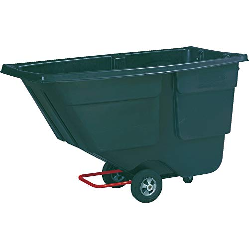 Rubbermaid Commercial Light-Duty Tilt Truck, Black, 1/2 Cubic Yard, -