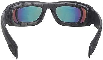 HTTOAR Gafas de Seguridad para El Sol de hípica con 4 Lente de ...
