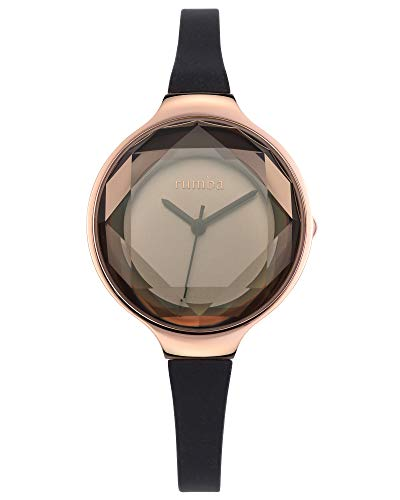RumbaTime Women's 15628 Orchard Gem Mini Rose Gold 30mm Black Diamond Watch ()