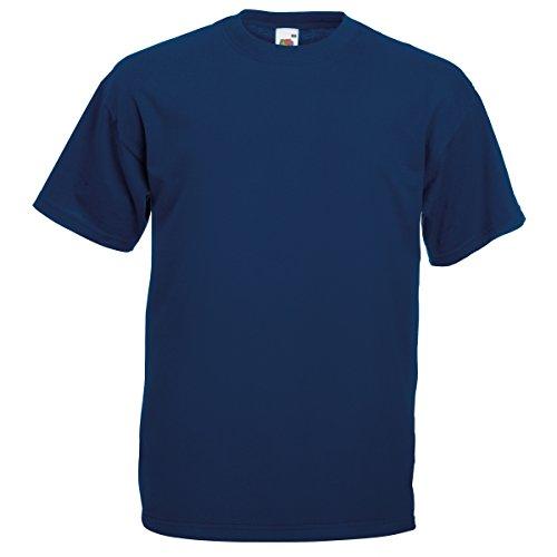 Fruit Of The Loom Herren Kurzarm T-Shirt S / 89-94cm Brust,Marineblau