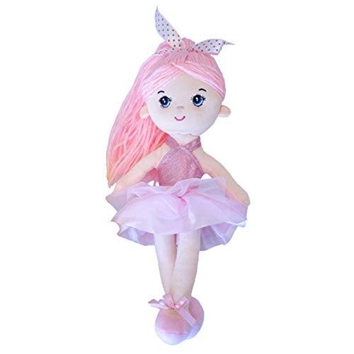 ACHIEWELL Ballet Dolls Cute Soft Plush Ballerina Creative Stuffed Animals 12-Inch (Pink)