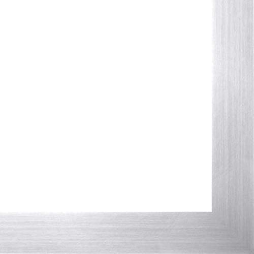 11x17 Silver Metallic Wood Frame  #039Brushed Steel#039 Thin  Great for Posters Photos Art Prints Mirror Chalk Boar