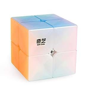D-FantiX Qiyi Qidi S 2x2 Speed Cube Stickerless 2x2x2 Jelly Cube Puzzle for Kids