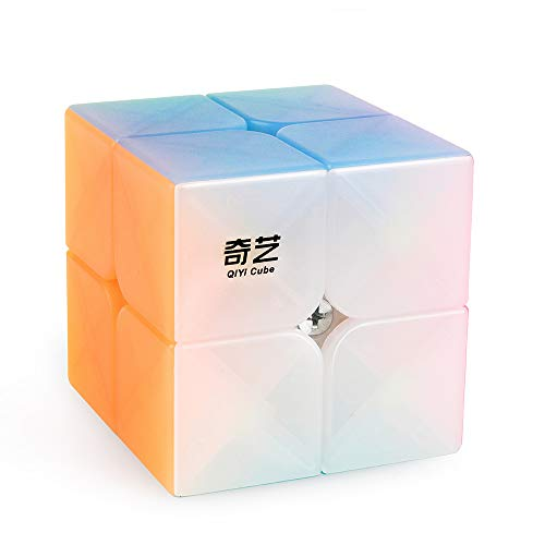 D-FantiX Qiyi Qidi S 2x2 Speed Cube Stickerless 2x2x2 Jelly Cube Puzzle for Kids