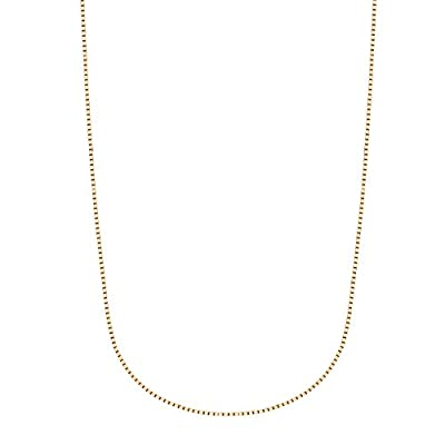 14K Yellow, White, or Rose Gold Box Chain Necklace (13,16,18,20, 24 Inches) by Ritastephens