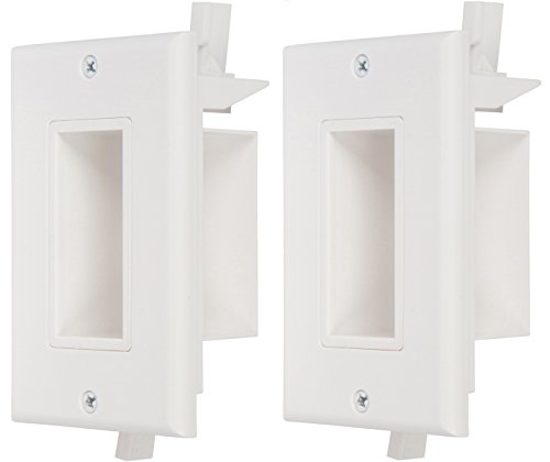 Buyer's Point Recessed Low Voltage Cable Wall Plate, Easy to Mount Outlet to Hide & Pass Tech Wires Through for HDMI, TV, Video, Audio, Network, Speaker Wires, Cord Concealer Cover Hider (2 Pack) (Best Tech Under 25 Dollars)