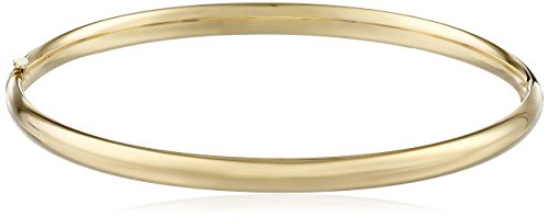 14k Yellow Gold 5mm Polished Bangle Bracelet