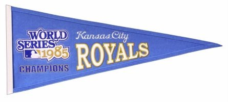 MLB Kansas City Royals Medium Throwback Pennant (Pennant Traditions Vintage)