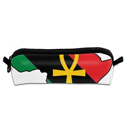 Ankh African Colored Africa Pencil Case Stationery Pouch Bag Coin Purse Multipurpose Travel Pouch Cosmetic Bag Organizer for Pen with Zipper