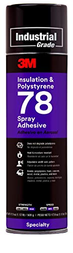 3M 78 Polystyrene Foam Insulation Spray Adhesive, Translucent 17.9 Oz. Aerosol Can