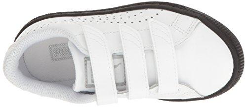 Puma Kids 'cesta Classic Velcro B & W PS Chukka Puma White-Puma White