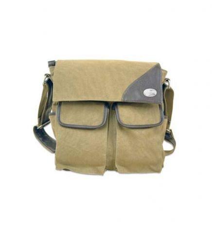 NCAA Georgia Southern Eagles Canvas Concho Messenger Bag, Khaki, One Size by ZEP-PRO